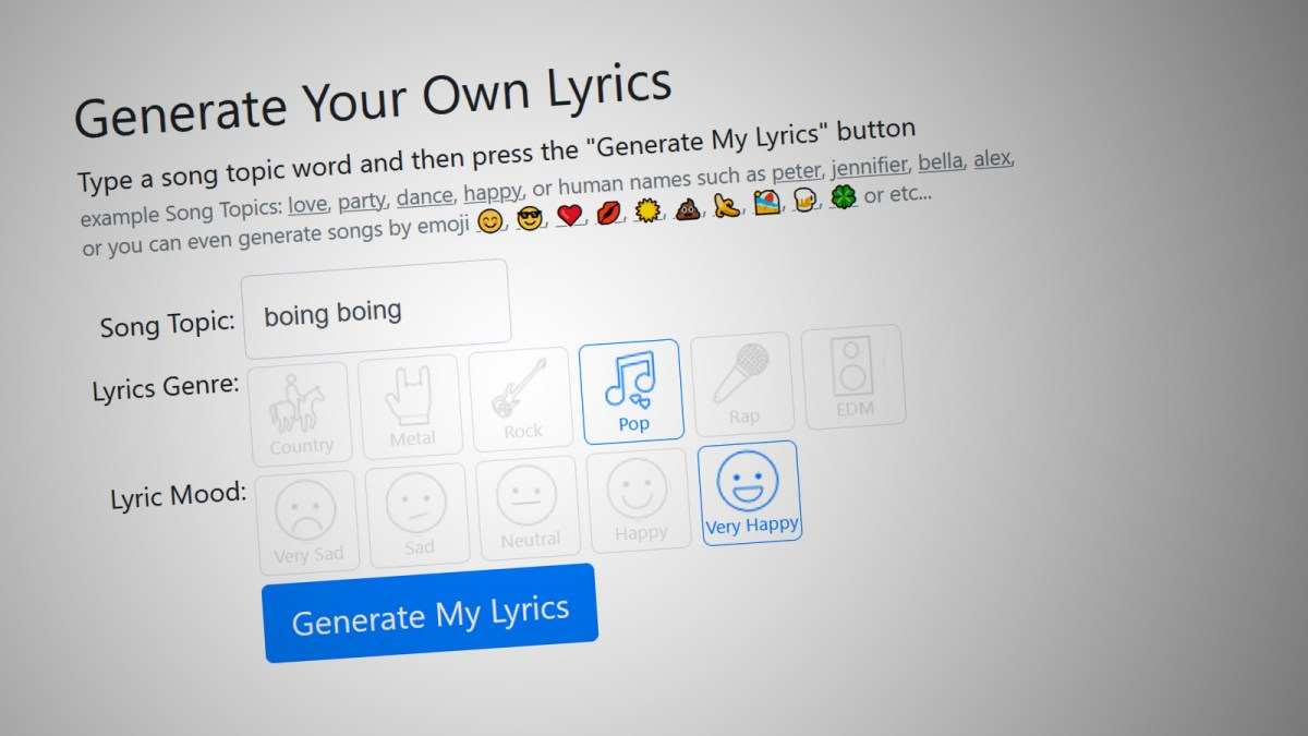 AI writes song lyrics at least as well as humans can