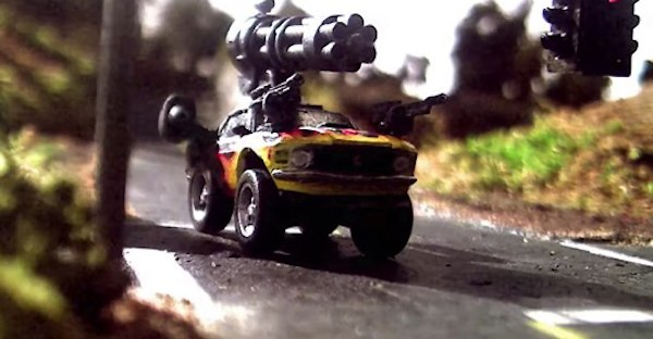 A stop-motion car combat show from Jon Favreau and Seth Green coming to Quibi