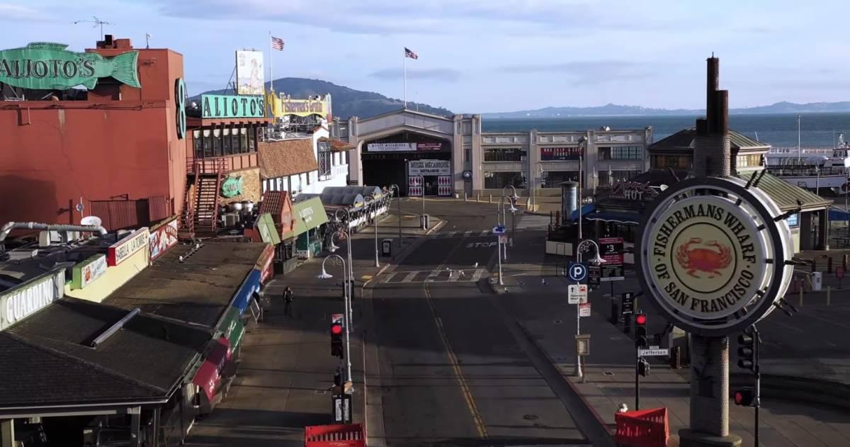 An eerily beautiful drone video of San Francisco shut down