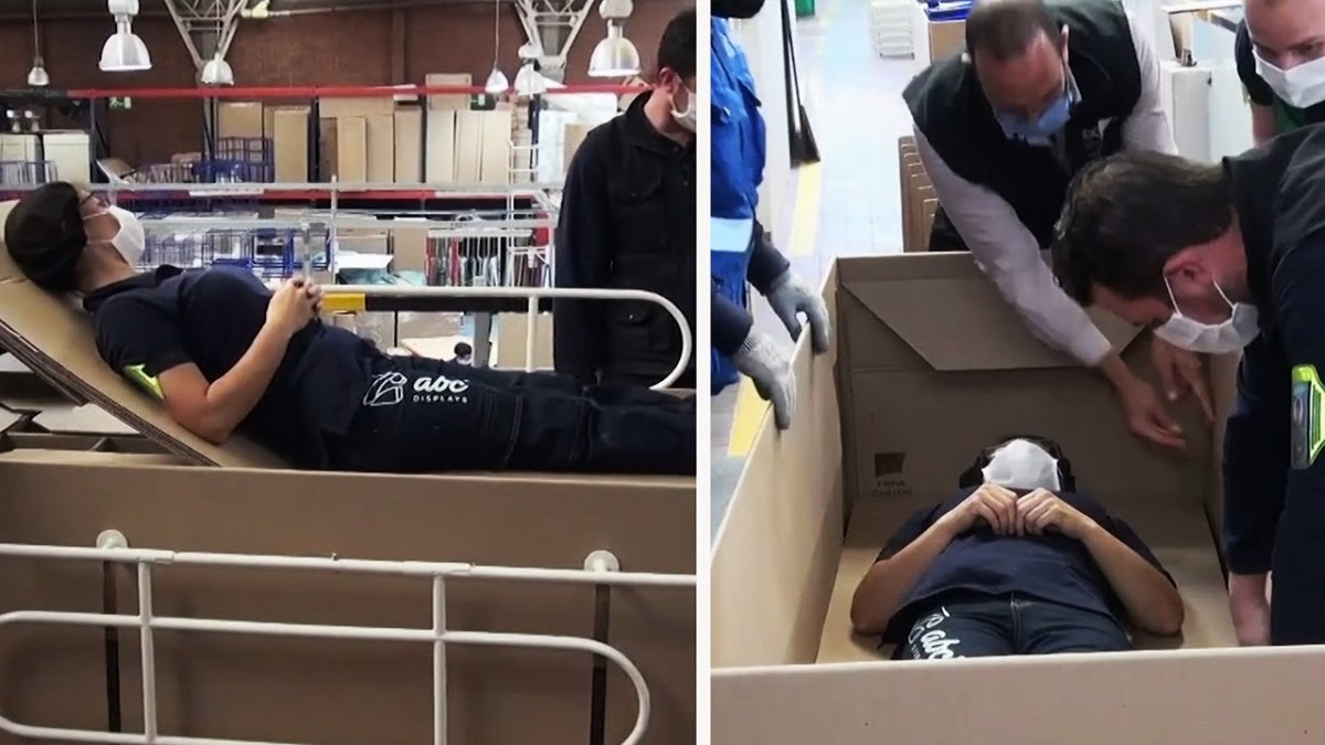 Someone invented convertible hospital beds that turn into coffins