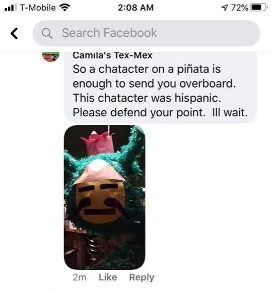 Mexican restaurant shamed for racist piñata