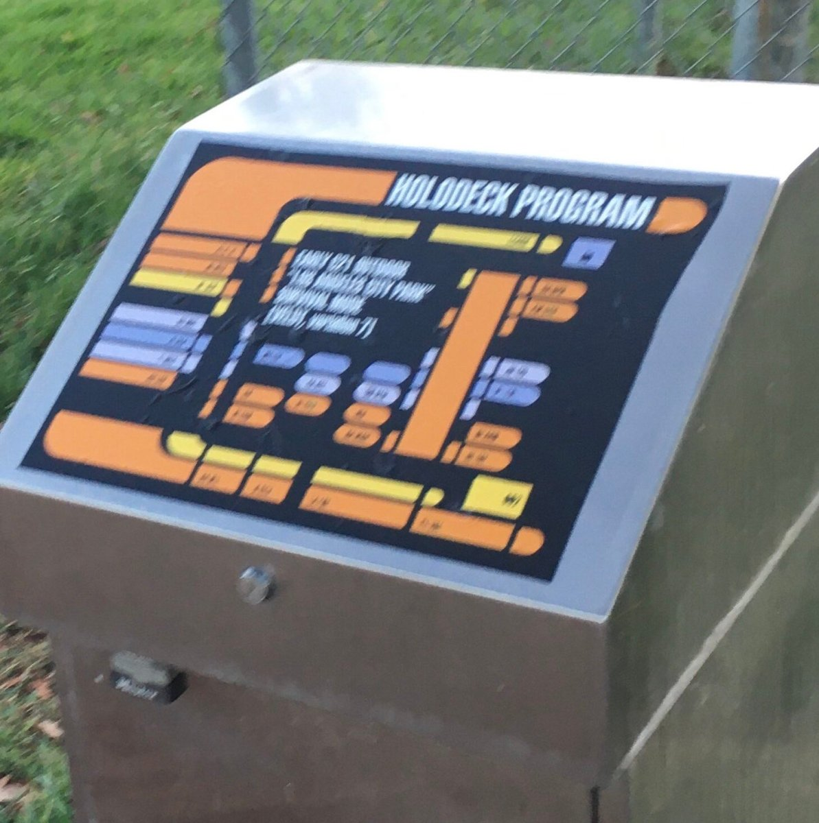 Holodeck Program interface spotted in LA city park