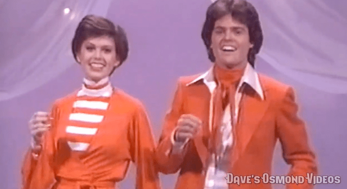 "Donny and Marie Osmond sing ""Reelin' In the Years"""