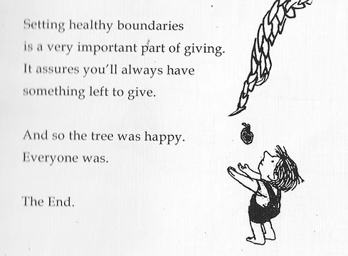 Alt-ending to Shel Silverstein's 'The Giving Tree': Tree sets boundaries