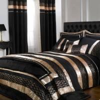 Black/Gold Midnight Double Duvet Cover Set - BrandAlley