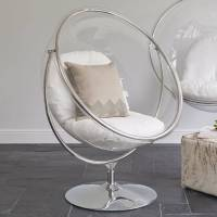 Ivory/Clear Bubble Inspired Chair on Floor Stand - BrandAlley