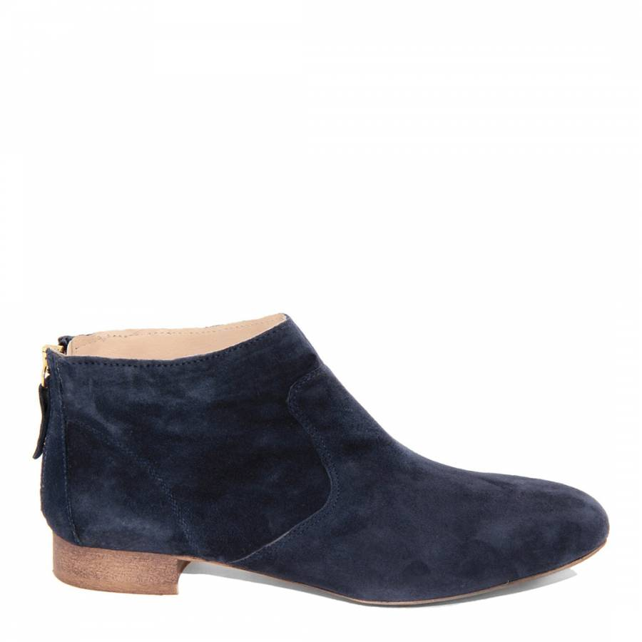 5995cf7f316 Navy Blue Suede Ankle Boots Brandalley