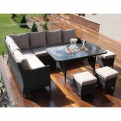 Maze Rattan Natural Milan Corner Sofa Set Green Cushions Surfers Discography Square Group With Stools Cushion Brandalley Venice Dining