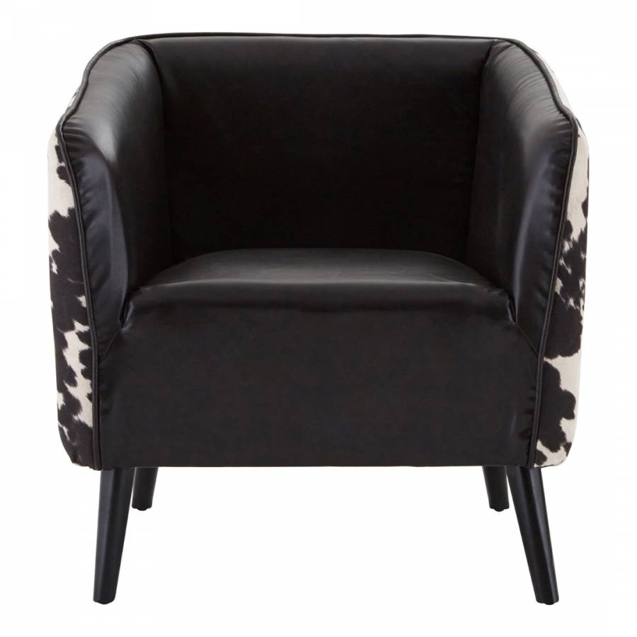 black and white cowhide chair covers spandex wedding rodeo brandalley premier housewares