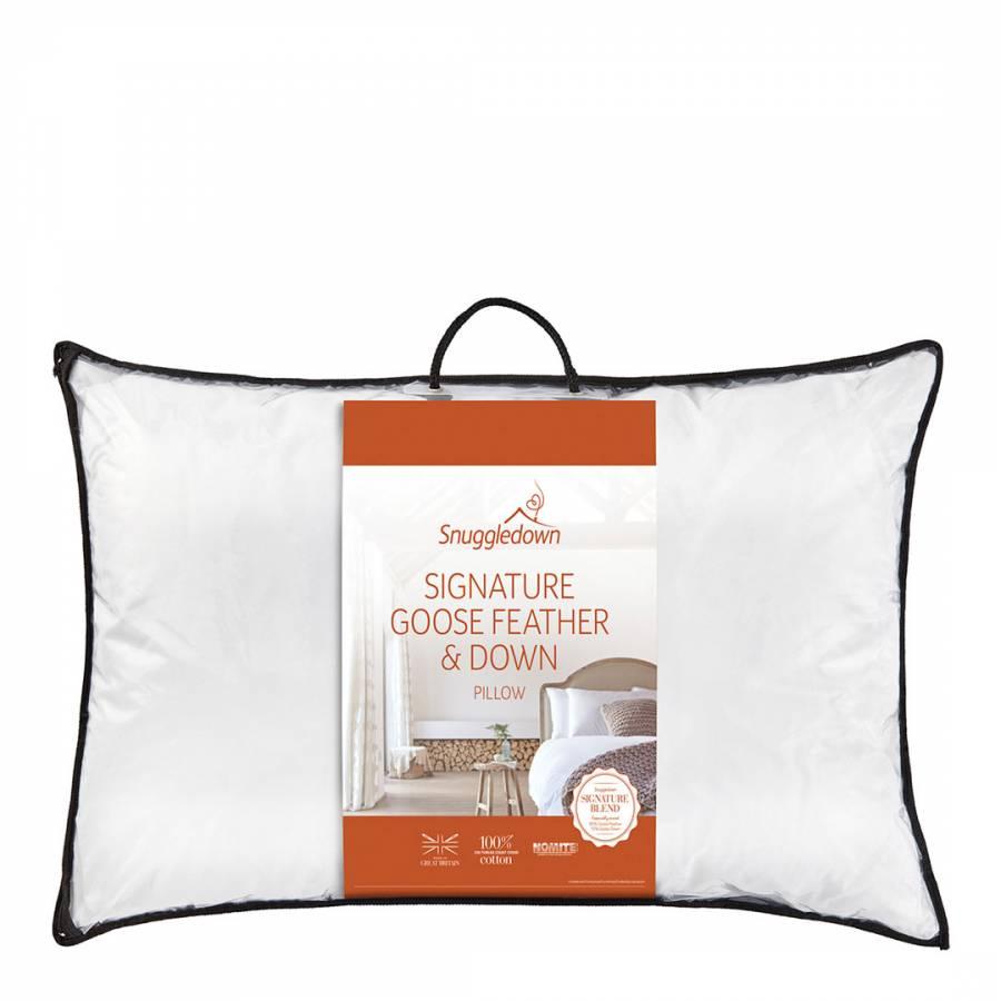 goose feather down pillow medium firm