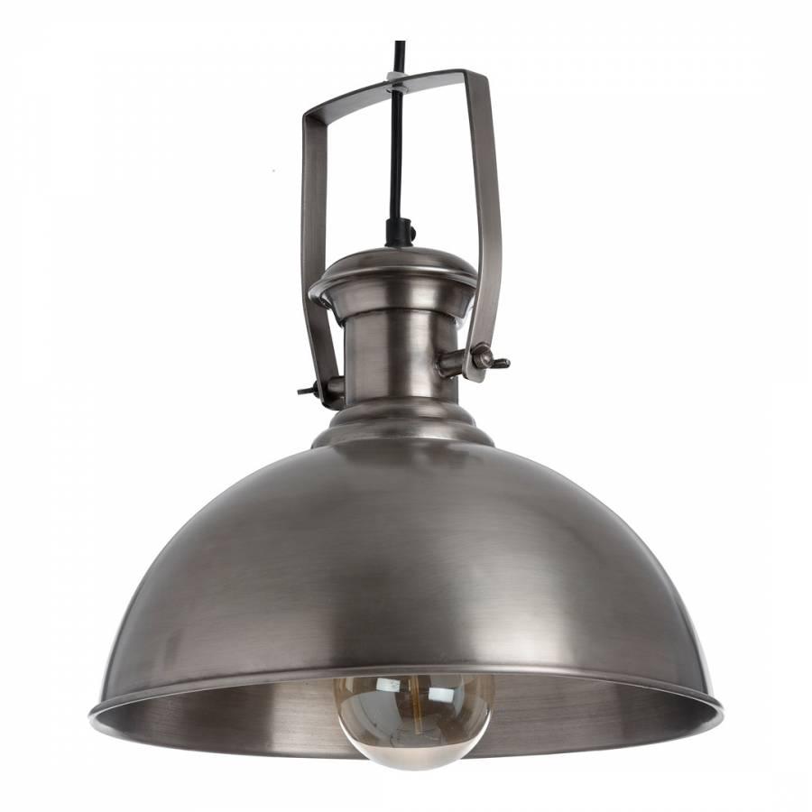 Nickel Hanging Industrial Style Pendant Lamp