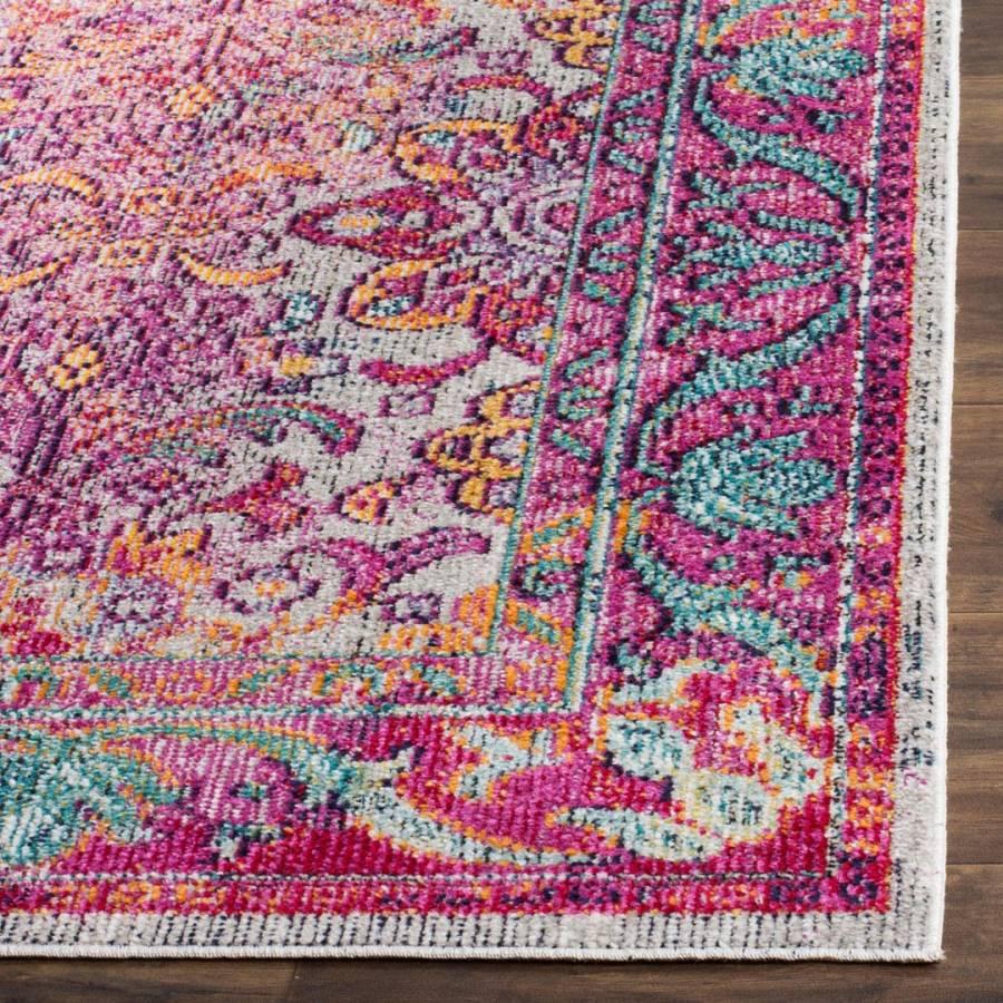 Light BlueFuchsia Duffy Woven Area Rug 91x152cm  BrandAlley