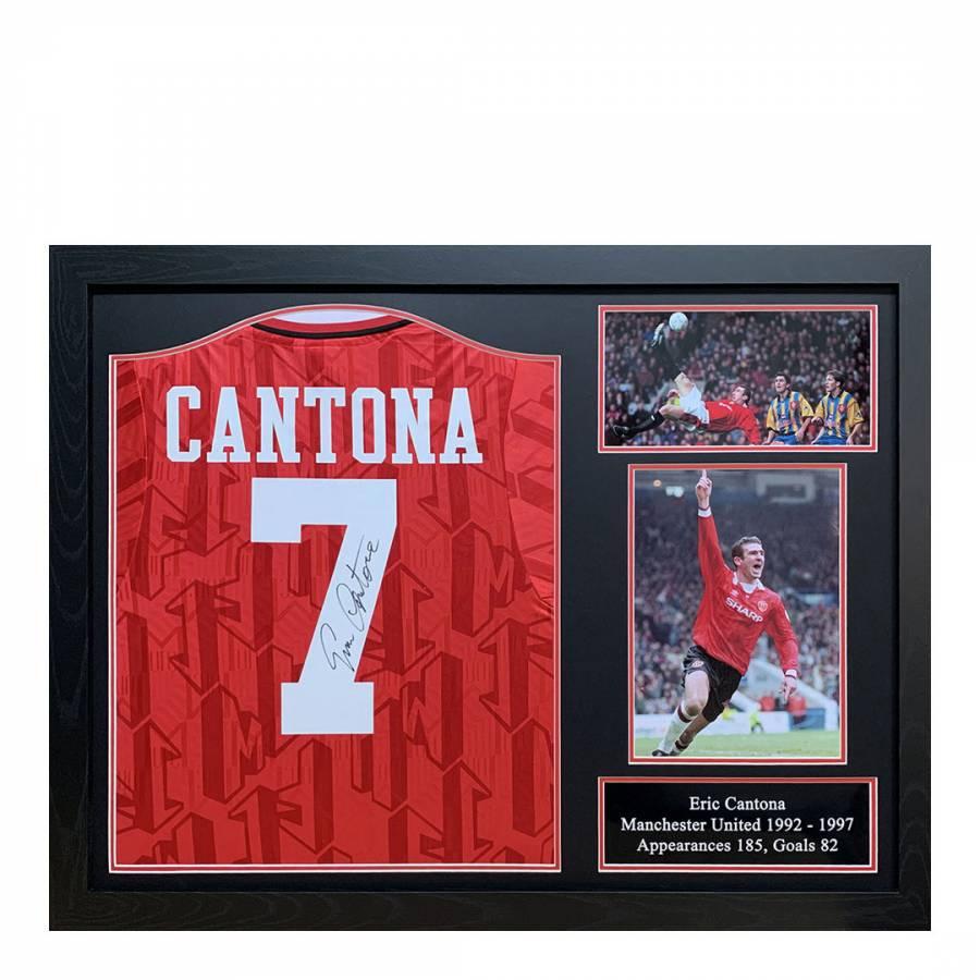 Cantona gewann mit olympique marseille zweimal die französische meisterschaft (1989, 1991) sowie einmal den französischen pokal (1989). Eric Cantona Signed 1994 Manchester United Shirt - BrandAlley