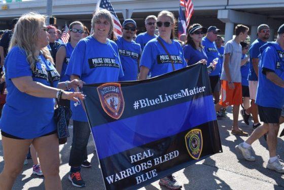 Real Warriors Wear Blue. (Photo: Breitbart Texas/Bob Price)