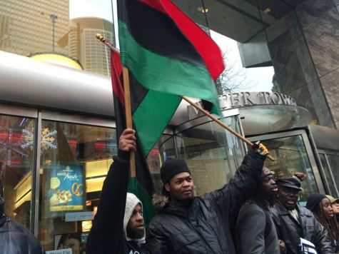Black Friday Protest over Laquon McDonald Shooting in Chicago (Lee Stranahan / Breitbart News)