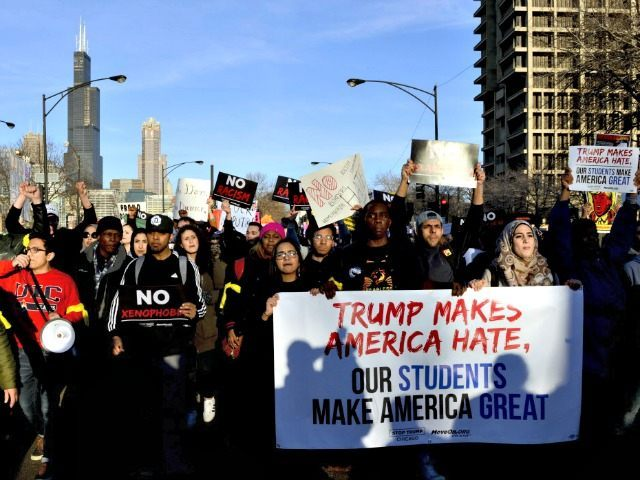 Image result for chicago trump riot rally march