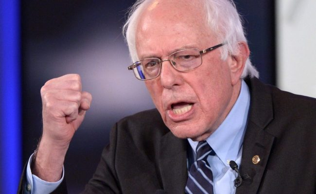Bernie Sanders While Lecturing The World On Equality And