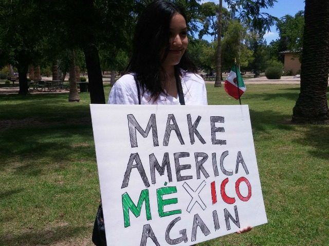 AZ Anti-Trump Protester: 'Make America Mexico Again'