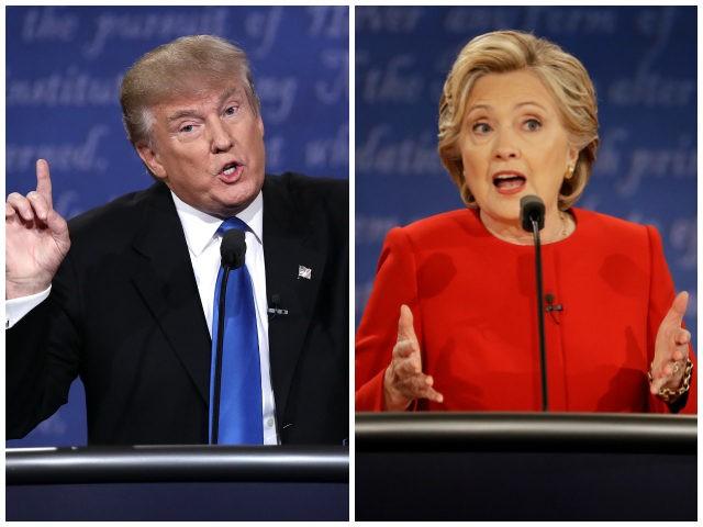 Bilderesultat for clinton vs trump