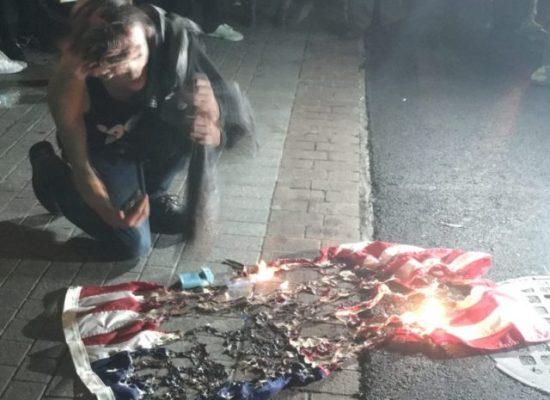 No - No - No Never Burn The USA Flag - Image Copyright Breitbart News aka Breibart.Com