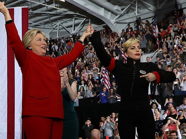 Image result for lady gaga clinton rally