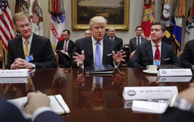 Donald Trump, Alex Gorsky, Wendell P. Weeks