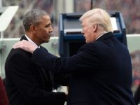 WASHINGTON, DC - JANUARY 20: US President Barack Obama shake hands with President-elect Donald Trump during the Presidential Inauguration at the US Capitol on January 20, 2017 in Washington, DC. Donald J. Trump became the 45th president of the United States today. (Photo by Saul Loeb - Pool/Getty Images)