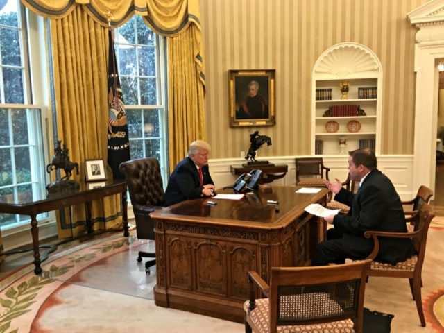 oval office chair microfiber and a half full transcript president donald trump s exclusive interview with breitbart news network in