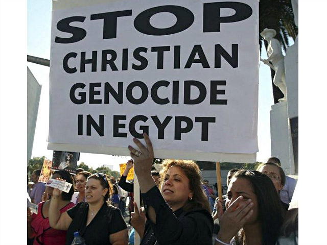 FaithWorld Egypt's Christian minority wary of too much foreign support By Tom Heneghan December 21, 2011 (Coptic Christians in Los Angeles, U.S.A. protest against the killings of people during clashes in Cairo between Christian protesters and military police, and what the demonstrators say is persecution of Christians, photo taken October 16, 2011. REUTERS/David McNew)