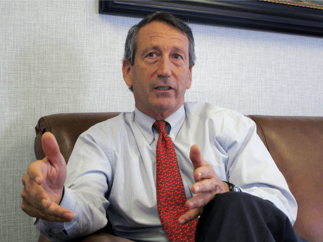 In this Dec. 18, 2013, file photo, U.S. Rep. Mark Sanford, R-S.C., discusses his first months back in Congress during an interview in Mount Pleasant, S.C. A spokesman for the South Carolina Law Enforcement Division said on Tuesday, July 12, 2016 that the agency is investigating after Sanford's niece's foot was apparently injured in an incident involving the congressman. An incident report said it happened on June 18, 2016 on a dock at the Sanford family farm near Beaufort, S.C. (AP Photo/Bruce Smith, File)