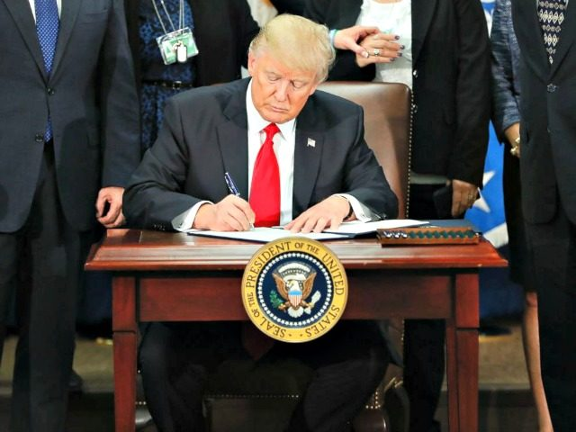 Trump Signs EO Pablo Martinez MonsivaisAP