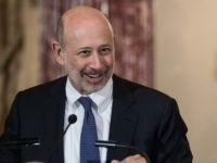 "Goldman Sachs chairman and CEO Lloyd Blankfein, pictured in 2015, said the company is ""well-positioned to not only meet our clients' diverse needs, but also to generate operating leverage for our shareholders"""