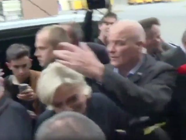 VIDEO: Le Pen Pelted With Eggs, Keeps Smiling