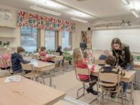 HALMSTAD, SWEDEN - FEBRUARY 08: Swedish students are seen in a classroom of a school on February 8, 2016 in Halmstad, Sweden. Last year Sweden received 162,877 asylum applications, more than any European country proportionate to its population. According to the Swedish Migration Agency, Sweden housed more than 180,000 people in 2015, more than double the total in 2014. The country is struggling to house refugees in proper conditions during the harsh winter; summer holiday resorts, old schools and private buildings are being turned into temporary shelters for asylum seekers as they wait for a decision on their asylum application. Sweden is facing new challenges on its migration policy after the massive arrival of refugees last year, forcing the country to drastically reduce the number of refugees passing through its borders. Stricter controls have had a significant effect on the number of arrivals, reducing weekly numbers from 10,000 to 800. The Swedish migration minister announced in January that the government will reject up to 80,000 refugees who applied for asylum last year, proposing strict new residency rules. (Photo by David Ramos/Getty Images)