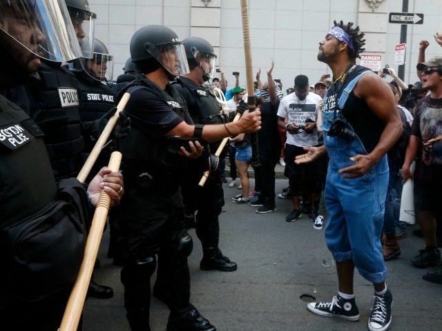 leftist protest boston