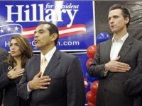 Villaraigosa and Newsom (Reed Saxon / Associated Press)