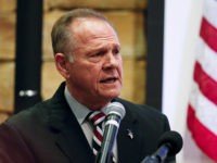 Former Alabama Chief Justice and U.S. Senate candidate Roy Moore speaks at an event at the Vestavia Hills Public library, Saturday, Nov. 11, 2017, in Birmingham, Ala. According to a Thursday, Nov. 9 Washington Post story an Alabama woman said Moore made inappropriate advances and had sexual contact with her when she was 14. Moore has denied the allegations. (AP Photo/Brynn Anderson)