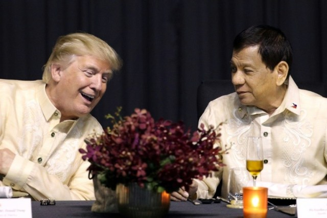 Duterte, who has a reputation for unpredictability, has recently said the nations are