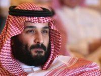 Saudi Arabia's Crown Prince Mohammed bin Salman, shown here on October 24, 2017, has denounced Iran's supreme leader Ayatollah Ali Khamenei as the