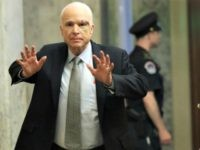 John McCain Hands Up