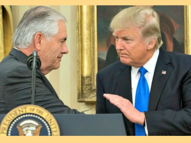 Politician Direct Tillerson-and-Trump-Getty-Images-640x480 Donald Trump Says Rex Tillerson 'Will Be Much Happier' Outside Administration Breitbart Politics  State Department Rex Tillerson National Security foreign policy Exxon-Mobil Donald Trump Big Government