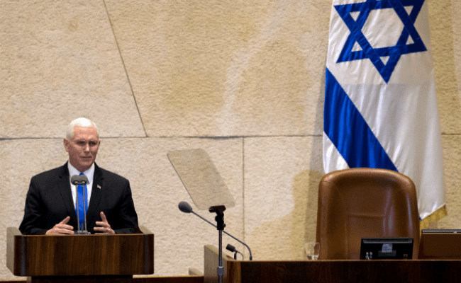 Pence To Knesset U S Embassy Will Move To Jerusalem By