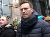 A still image taken from an AFPTV footage shows opposition leader Alexei Navalny attending a rally calling for a boycott of March 18 presidential elections, Moscow, January 28, 2018. / AFP PHOTO / Alexandra Dalsbaek (Photo credit should read ALEXANDRA DALSBAEK/AFP/Getty Images)