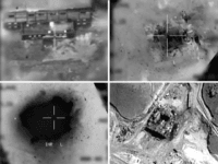 This combination of pictures created on March 20, 2018 of handout images provided by the Israeli army reportedly shows an aerial view of a suspected Syrian nuclear reactor during bombardment in 2007. Israel's military admitted for the first time on March 20 responsibity for a 2007 air raid against a suspected Syrian nuclear reactor, a strike it was long suspected of carrying out. The admission, along with the release of newly declassified material related to the raid, comes as Israel intensifies its warnings over the presence of its main enemy Iran in neighbouring Syria. / AFP PHOTO / Israeli Army / - (Photo credit should read -/AFP/Getty Images) Editorial subscription SML 2974 x 2167 px | 25.18 x 18.35 cm @ 300 dpi | 6.4 MP Size Guide Add notes SUBSCRIPTION DOWNLOAD Details Restrictions: Contact your local office for all commercial or promotional uses. Full editorial rights UK, US, Ireland, Italy, Spain, Canada (not Quebec). Restricted editorial rights elsewhere, please call local office. Credit: - / Contributor Editorial #: 935453324 Collection: AFP Date created: 20 March, 2018 Licence type: Rights-managed Release info: Not released.More information Source: AFP Barcode: Israeli Army Object name: 84518988_SEA.jpg Max file size: 2974 x 2167 px (25.18 x 18.35 cm) - 300 dpi - 1.33 MB More search resultsView all