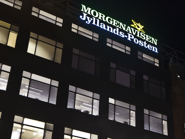 Picture taken on December 29, 2010 of the building which houses the Jyllands-Posten newspaper in Copenhagen. The Danish intelligence agency PET said today it had arrested four men suspected of preparing a terror attack against the Danish daily Jyllands-Posten, which published the caricatures of the Prophet Mohammed. A spokeswoman for …
