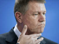 In this Thursday, Feb. 26, 2015 file picture Romanian President Klaus Iohannis attends a news conference after a meeting with German Chancellor Angela Merkel at the chancellery in Berlin, Germany. Romania's president has lost a bid to overturn a court case on a property he lost ownership of, following an 18-year court case. after a court in the southern city of Pitesti on Wednesday, Feb. 22, 2017 rejected his appeal for annulment on a lawsuit connected to a property he and his wife bought in 1999 in the central city of Sibiu. (AP Photo/Steffi Loos, File)