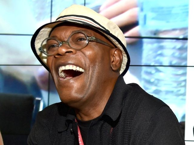 Actor Samuel L. Jackson (L) and Marvel executive producer Louis D'Esposito attend Marvel's 'Avengers: Age Of Ultron' Hall H Panel Booth Signing during Comic-Con International 2014 at San Diego Convention Center on July 26, 2014 in San Diego, California. (Photo by Alberto E. Rodriguez/Getty Images for Disney)