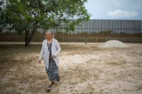 Eloisa Tamez, an activist and opponent of the US-Mexico border fence, stands in her backyard on June 18, 2018 in San Benito, Texas