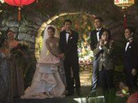 Chris Pang, Sonoya Mizuno, Jimmy O. Yang, and Henry Golding in Crazy Rich Asians (Warner Bros. 2018)