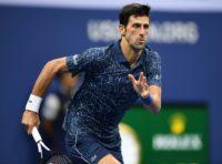 Moving on: NovakDjokovic on his way to victory over TennysSandgren
